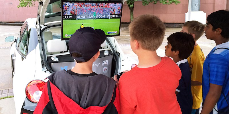 Interactive Fan Zone - Soccer Ball Car copy