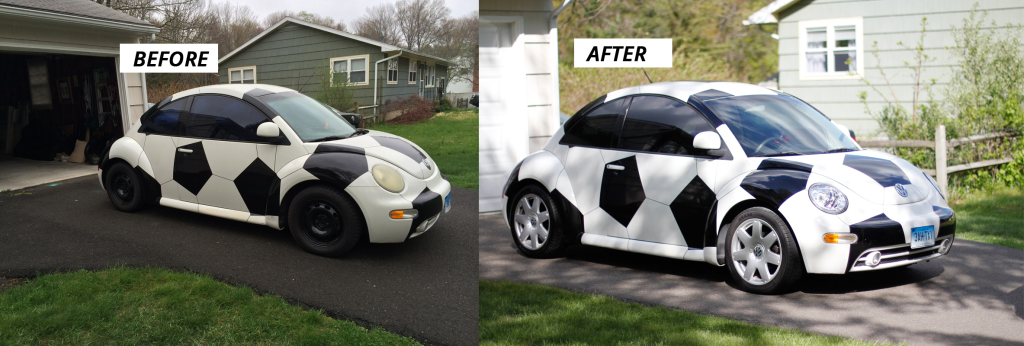 Soccer Ball Car - Before and After