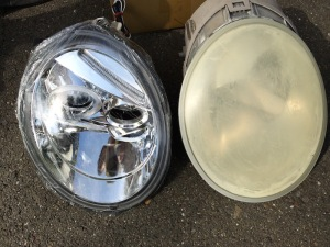 VW Beetle Headlight Replacement - LED Halo Projector